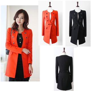New Autumn Women Lady Stylish Slim Casual Look Windbreak Double