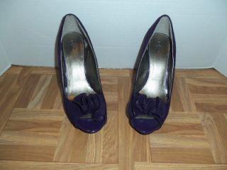 Cato Purple Open Toe Platform Pumps Heels Womens Shoes 8M