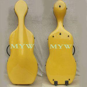 Yellow 4 4 Cello Case L Carbon Fiber Material Wheels