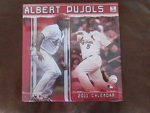 Albert Pujols 2011 Sports Calendar Still in Cellophane Wrap