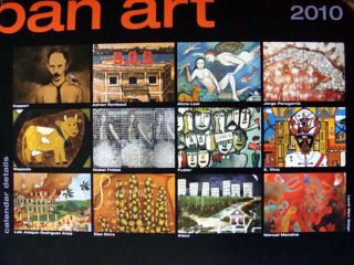 2010 Cuban Art Space Luxury Wall Calendar Cuba Artists Jorge