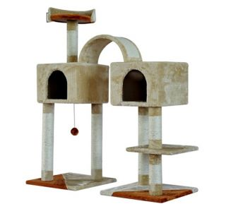 New Cat Scratch Tree Pet Condo Post Tower With 2 Bedroom Base Toy