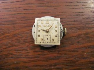 VINTAGE BULOVA MENS WRIST WATCH STEPPED DECO CASE