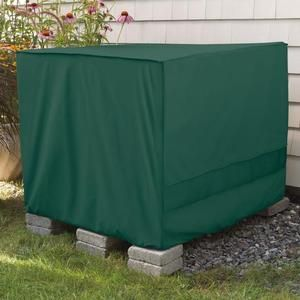 Weather Wrap Square Central Air Conditioner Cover Green