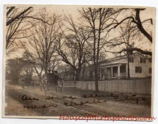Charles City Iowa Street Scene Horse Drawn Carriage Vintage Snapshot