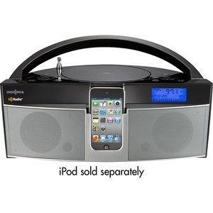 Insignia NS BHDIP01 CD Boombox HD FM Radio iPod iPhone Dock