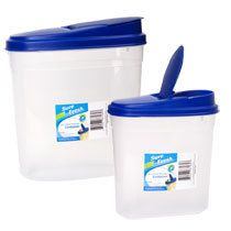 Set of 2 NEW Cereal Storage Containers Pasta Food Dry Goods Kitchen