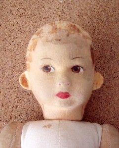 antique chad valley cloth doll 14 high