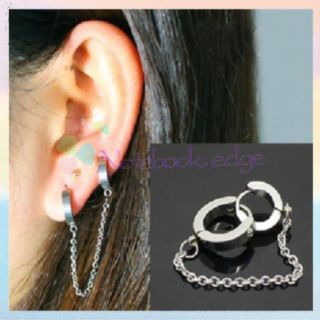1pc Ear Cuff Stud Earring Chain Boho Gothic Punk Design for Pierced