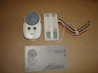 hunter ceiling fan speed light dimming remote control receiver 27208