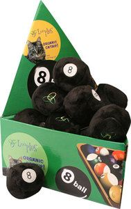 Eight Ball Loopies Soft Plush Ball Catnip Cat Kitten Toy