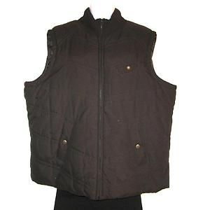 Jones New York Sport Woman Chocolate Brown Quilted Vest Plus Size 2X