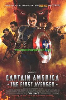AMERICA MOVIE POSTER 2011 CHRIS EVANS DS 27x40 INTERNATIONAL VERSION