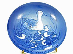 Bing Grondahl Porcelain Mothers Day Plate 1973 Duck Hen Chicks Wall