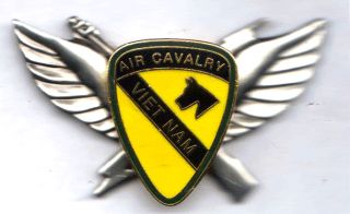 air cav 1st cavalry vietnam 1st style air assault badge