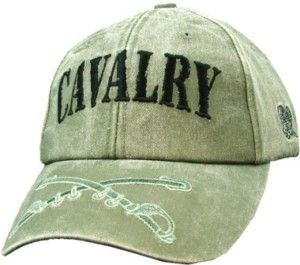 Army Cavalry Logo Embroidered Military OD Hat Cap