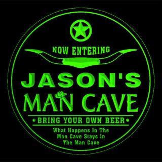 4X CCPB0024 G Jasons Man Cave Cowboys Bar Beer Drink 3D Coasters