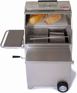 HASTY BAKE 84 CONTINENTAL STAINLESS STEEL CHARCOAL GRILL   NEW