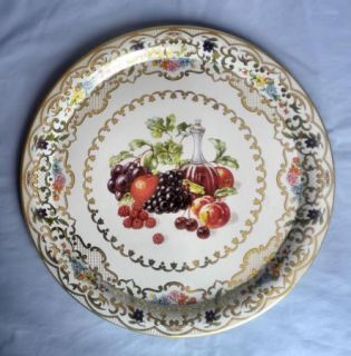 Vtg Daher Decorated Ware Fruits Wine Tray 825 England