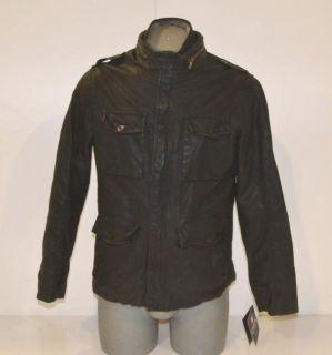 Chaps Size Large Mens Black Faux Leather Jacket