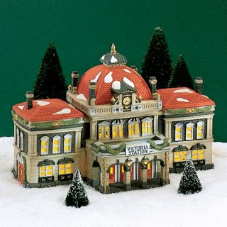 DEPARTMENT 56 DICKENS VILLAGE VICTORIA STATION VERY LARGE