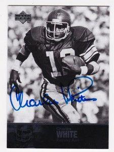 Deck College Football Legends 36 Charles White USC Trojans Auto