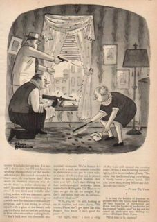 1959 Charles Addams Family Gangsters Shootout 50s Comic Cartoon Art
