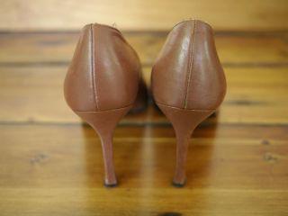 Charles David Spanish Leather Mary Jane Bow High Heel Pumps 7 5 B 38