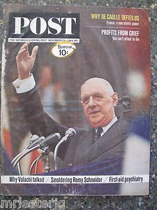 Post Magazine November 23 1963 Charles DeGaulle Great Ads
