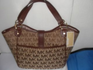 MICHAEL Michael Kors Charlton Large Logo Tote Ladies Handbag (Beige