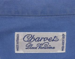 CHARVET France $635 Blue Dress Shirt French Cuffs 16 5 WOW