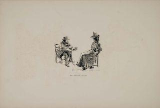 art 1894 charles dana gibson woman man fortune teller print original