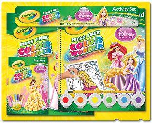 Disney Princess Crayola Color Wonder Activity Set 75 2240