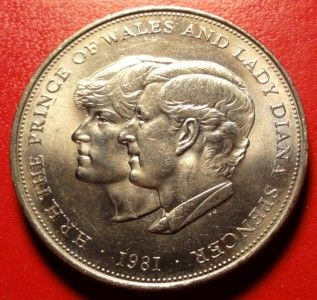1981 Prince Charles Lady Diana Commemorative Medal QE2 Coin 38mm
