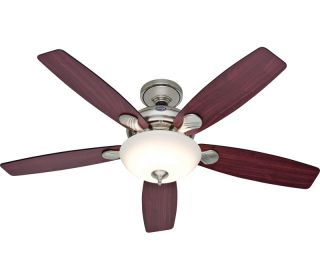 Hunter 25120 Eco Air Nickel 52 Ceiling Fan w Pull Chains