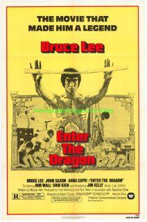 The Dragon Movie Poster Original 27x41 Folded R1979 Bruce Lee
