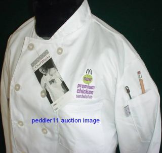 New in Package Small Chef Works Culinary Chef Coat Coats Jacket