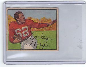 1950 Bowman AUTOGRAPHED Football Hall of Famer Charley Trippi