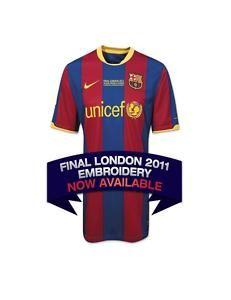 Nike Barcelona Final Champions League 2011 Jersey YXL