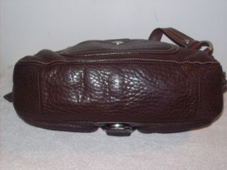 Coach Chelsea Brown PEBBLED Leather Field Bag 10893