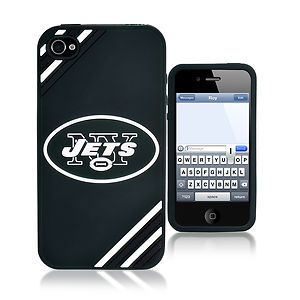 New York Jets All Silicone iPhone 4 4S Cell Phone Soft Case NFL