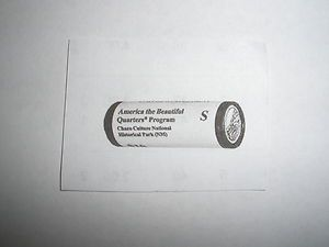 2012 s Mint Chaco National Park Quarter 40 Coin Roll San Francisco PL3