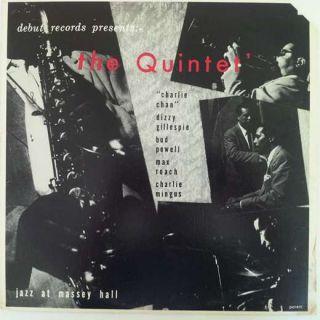 Quintet Jazz at Massey Hall LP VG+/NM Charlie Parker Dizzy Gillespie