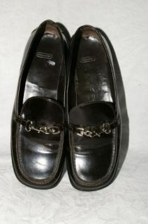 Coach Cherie Black Patent Leather Loafers Womens 6 5 B