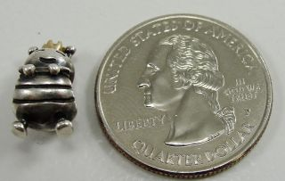 Sterling Silver Queen Bee Two Tone 790227 Bead Charm 14 8mm