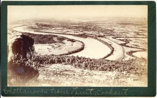 Chattanooga TN Tennessee from Point Lookout Boudoir Cabinet Card Photo