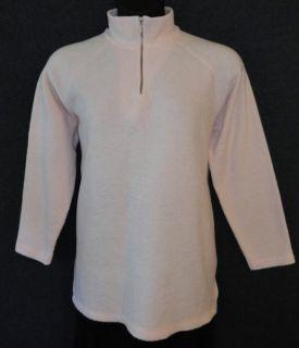 Chaus Sport Medium Pink Zip Neck Warm Fleece Polyester Rayon Blend Top