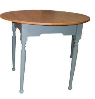 Cottage Style Round Dining Table Pedestal or 4 Leg Base 40 Painted