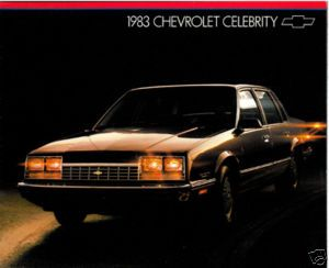 1983 Chevrolet Chevy Celebrity Sales Brochure Book