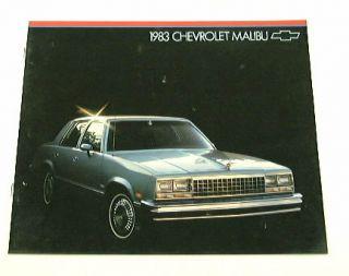 1983 83 Chevy Chevrolet Malibu Brochure Sedan CL Wagon